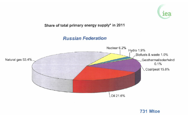 Share of total primary energy supply in 2011