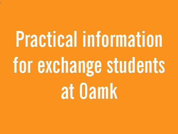 Practical information for exchange students at Oulu UAS!